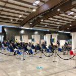 Si rafforza ed intensifica la presenza dei volontari presso l'Hub vaccinale al Centro Fiera